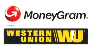 Western Union Logo mit Moneygram Logo
