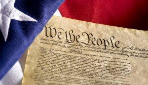 Erste Seite der US-amerikanischen Verfassung
