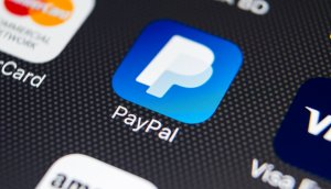 Das Symbol von paypal als app