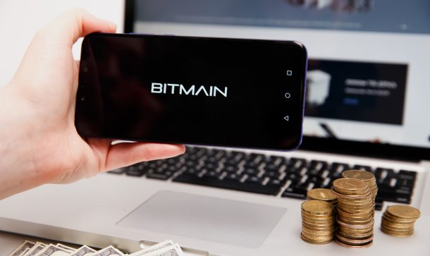 Bitmain logo on phone