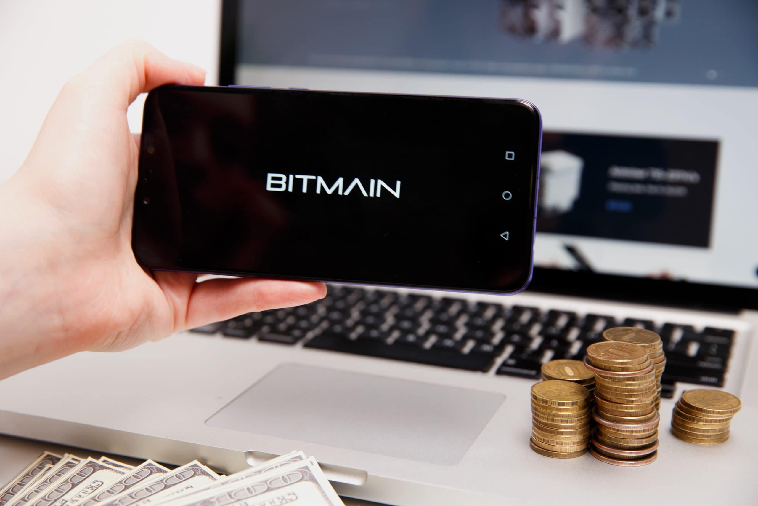 Bitmain logo on phone