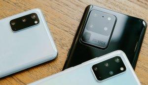 Drei Modelle der Galaxy S20-Serie von Samsung