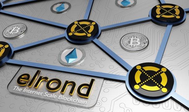 3D-Darstellung von Elrond, einem Blockchain-Netzwerk