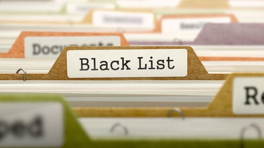 """Eine Akte mit der Aufschrift Black List"""""""