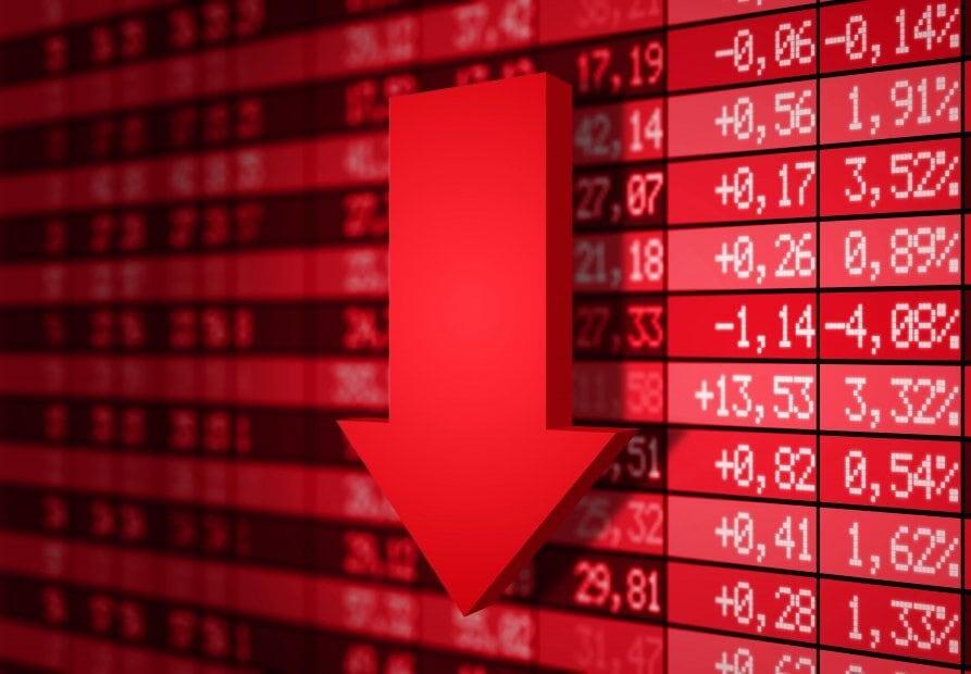 Börsennachfrage, Roter Pfeil nach unten