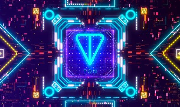 TON-Logo in NEON-Optik