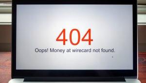 ein laptop, der die roten zahlen 404 zeigt und darunter in schwarzer schrift