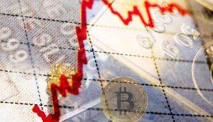 DIe Grafik zeigt einen Kursanstieg, sowie einen Bitcoin und einen Goldbarren.