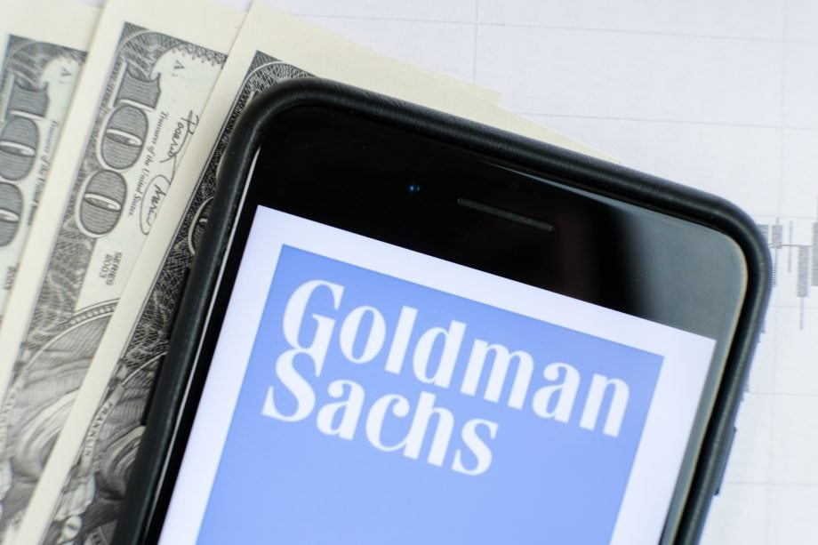 Goldman Sachs Logo auf dem Handy