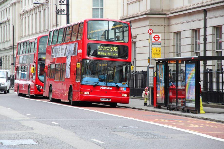 Bushaltestelle in London