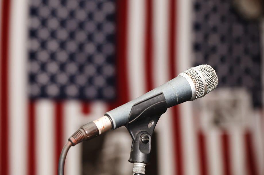 Mikrophone zu den US Wahlen