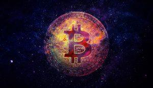 Bitcoin im Sternenhimmel