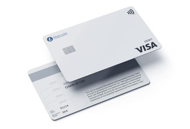 Die Debitkarte von der Litecoin Foundation