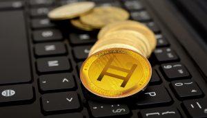Hedera-Hashgrpah-Münze (HBAR) auf Keyboard