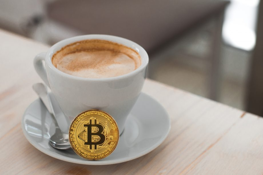 Bitcoinundkaffeetasse
