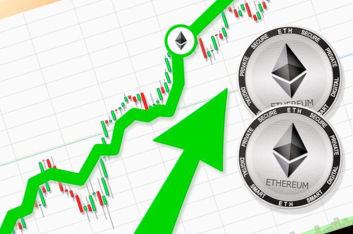 Symbolbild für steigenden Ethereum-Kurs (ETH)