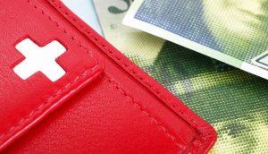 Geldbörse im Schweiz-Look