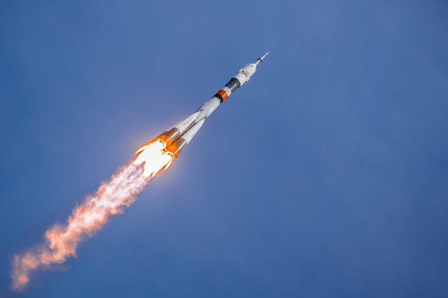 Rakete im Flug