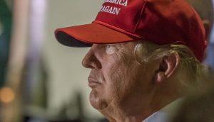 Profilaufnahme von US-Präsident Donald J. Trump
