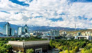 Die Stadt Almaty in Kasachstan