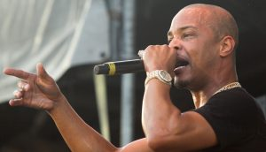 Rapper T.I. am Mikrofon