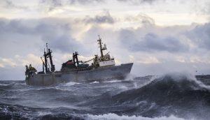 Schiff im Meer