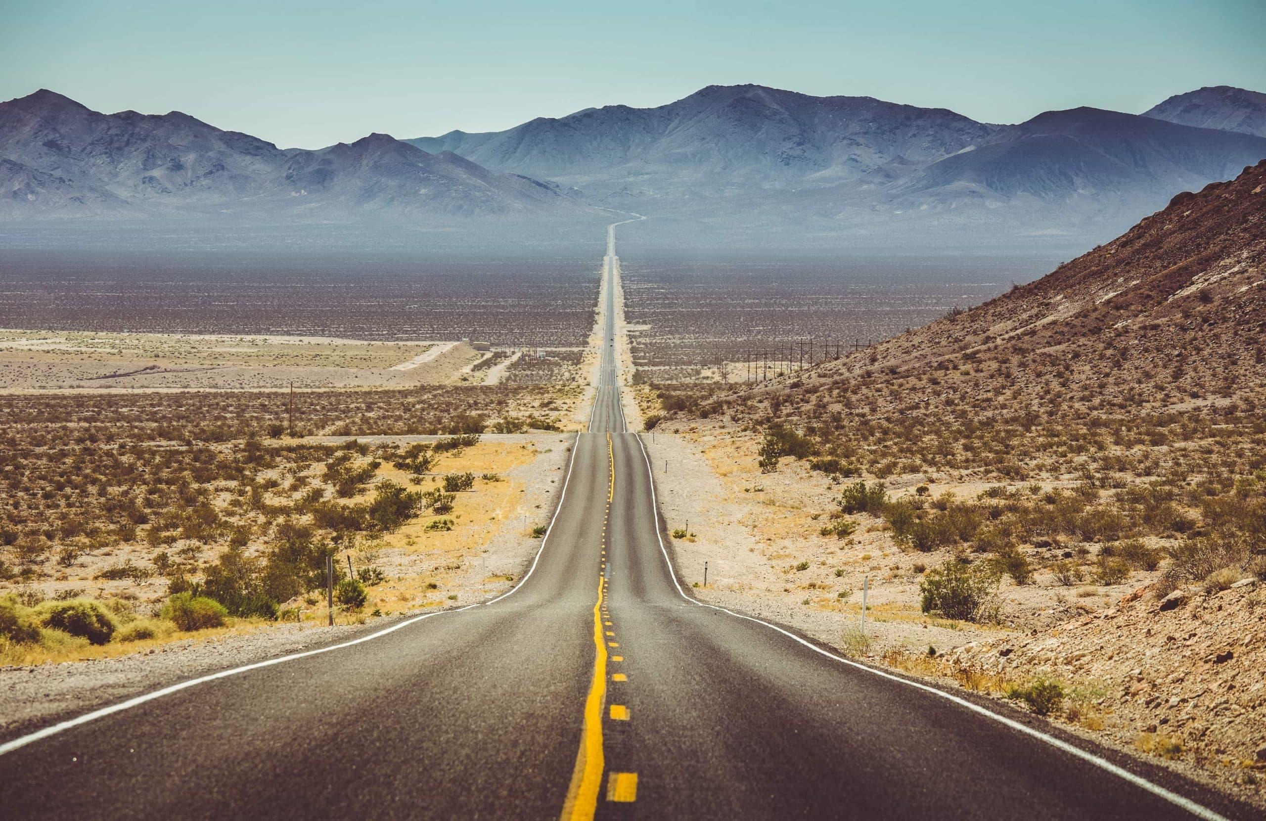 Gerade Straße in den USA