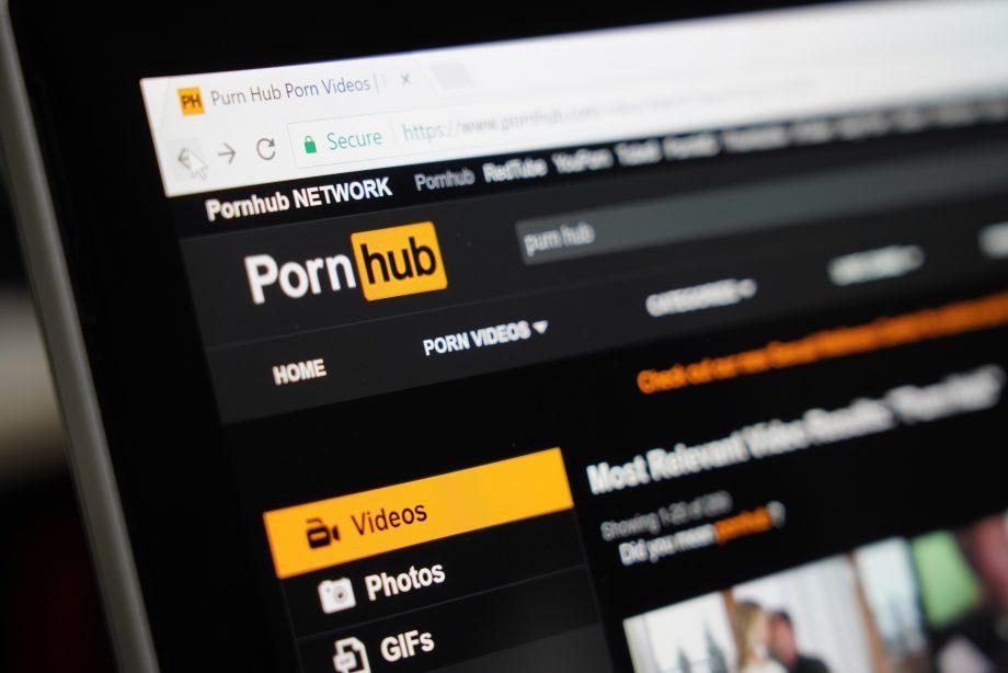 Screenshot der Pornhub Webseite