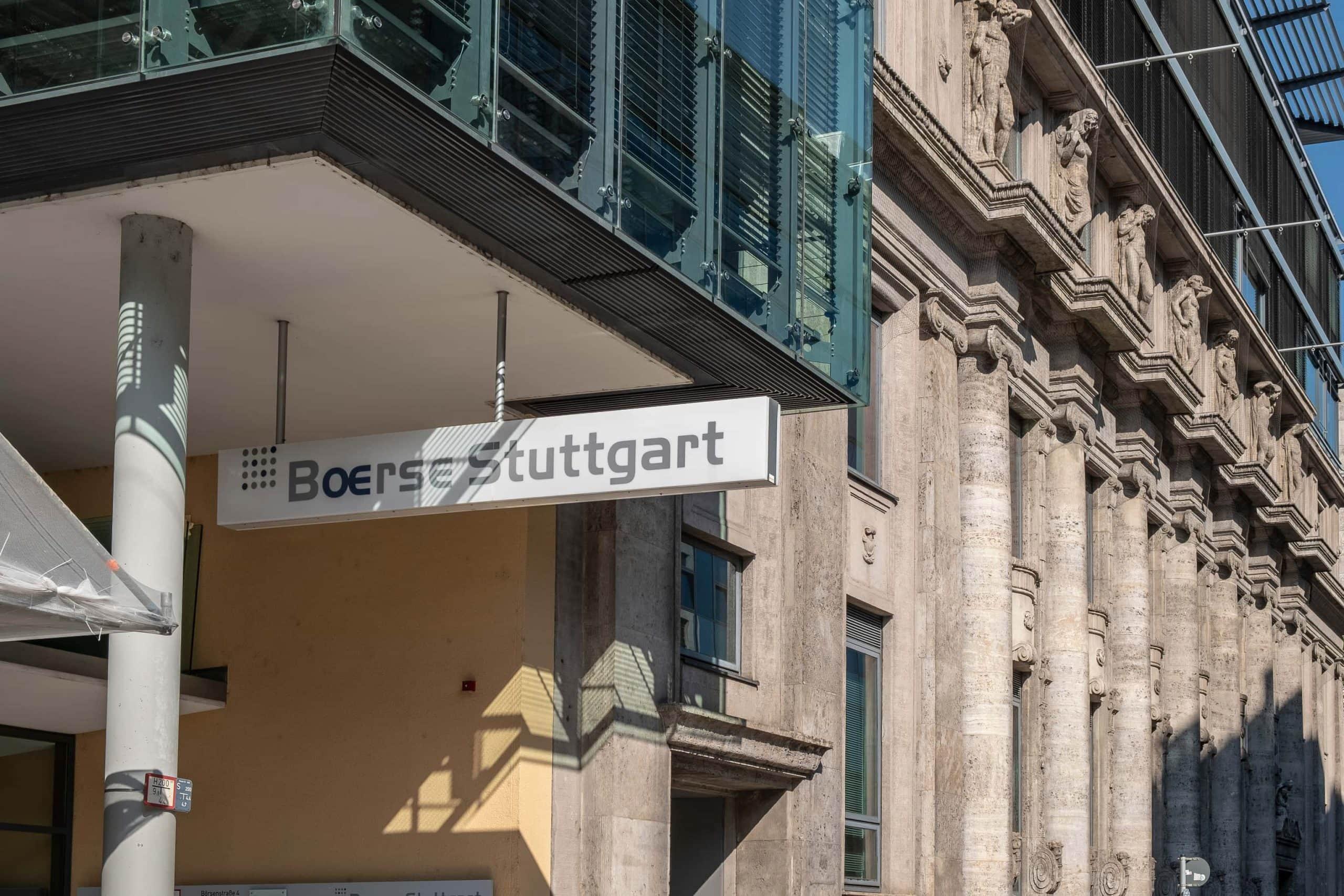 Gebäude der Börse Stuttgart