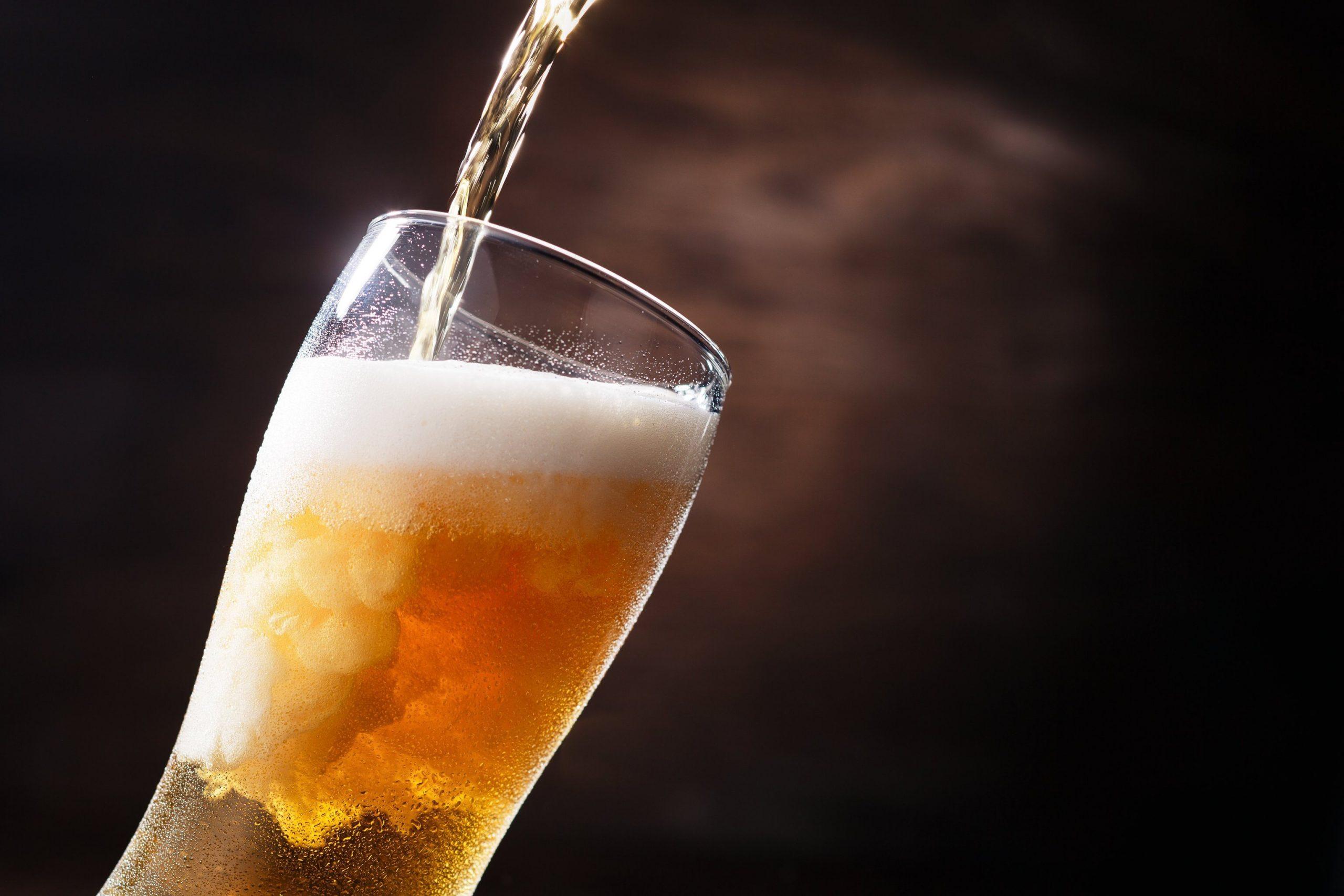 Bier im Bierglas