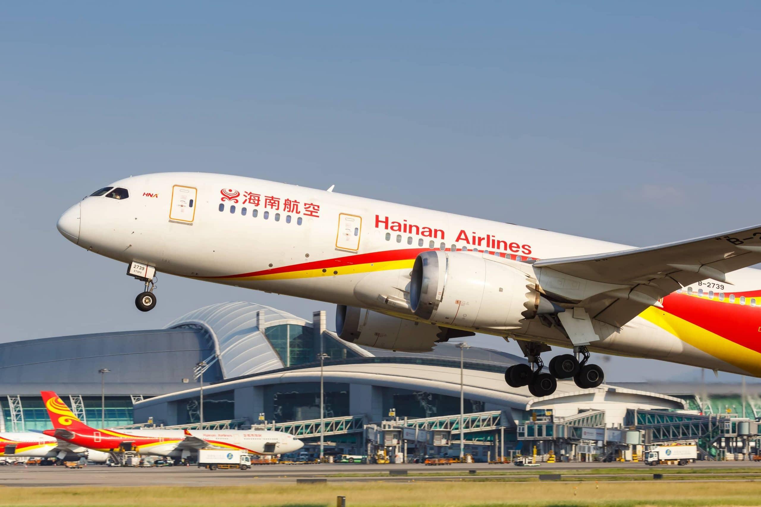 Hainan-Airlines-Flugzeug am Flughafen