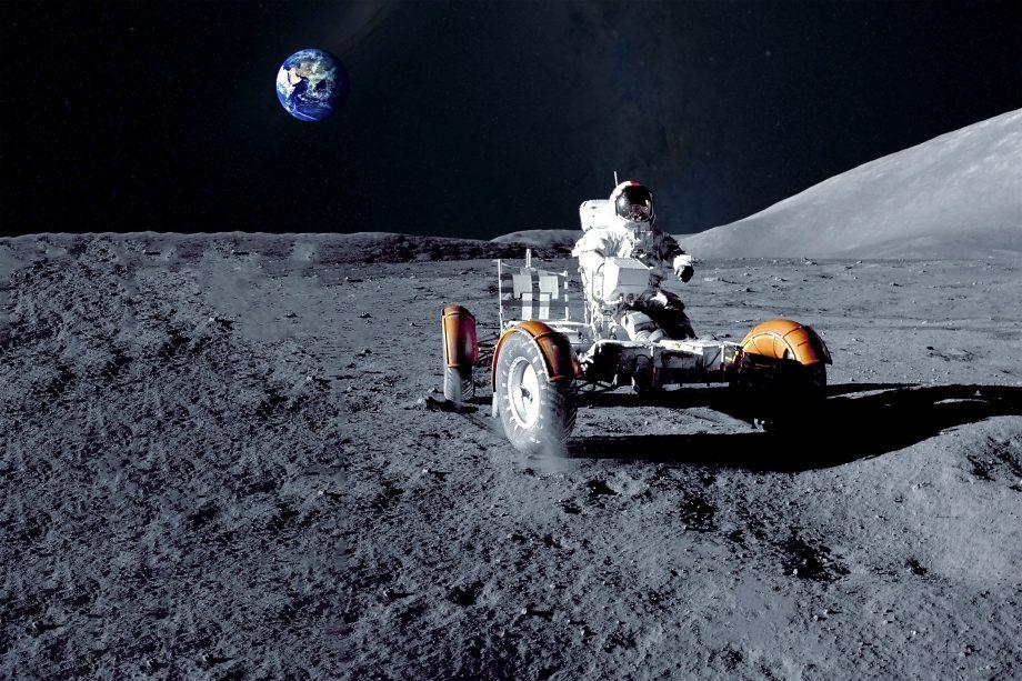 Astronaut auf dem Mond