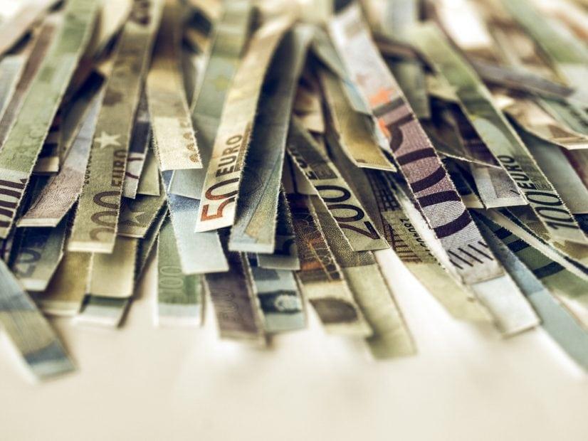 Geschreddertes Bargeld (Euro)