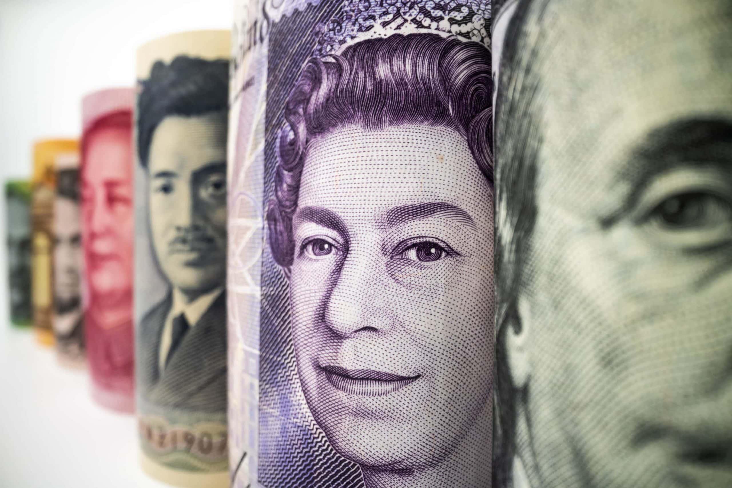 Verschiedene Fiat-Währungen