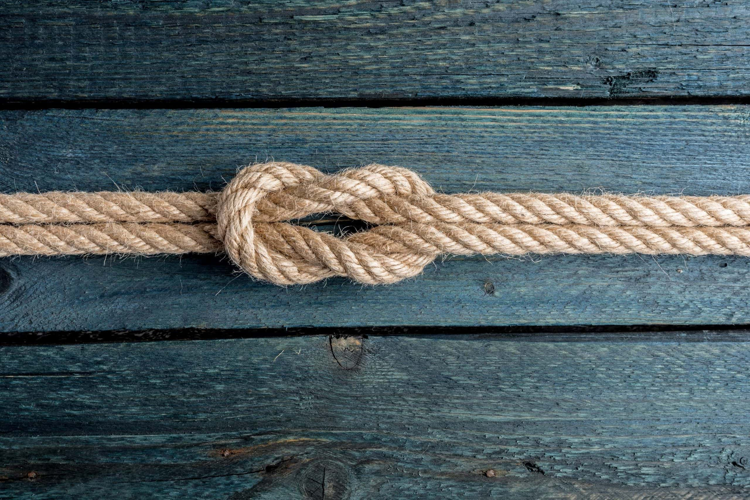Knoten in einem Seil