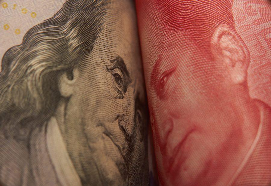 Die Vereinigten Staaten und China stehen vor einem Handelskonflikt. Handelskrieg. Weltkrisenfrage. Geopolitik.