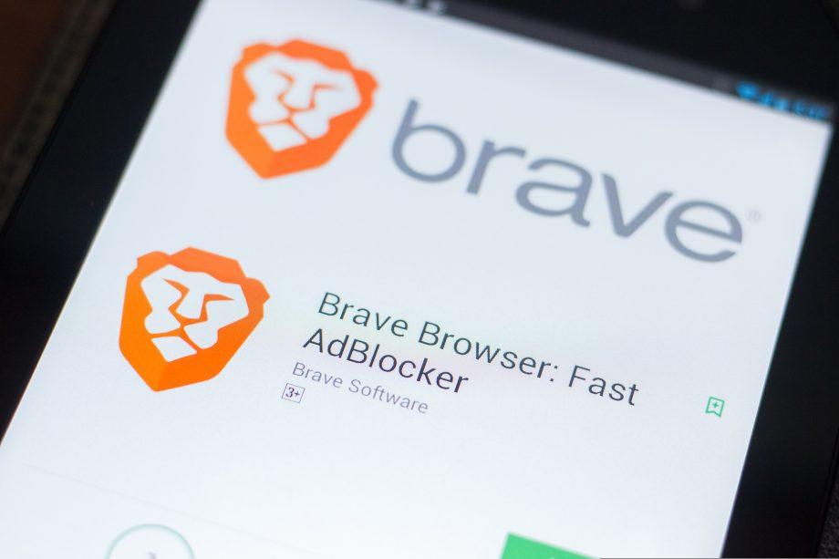Brave Browser Logo auf Smartphone