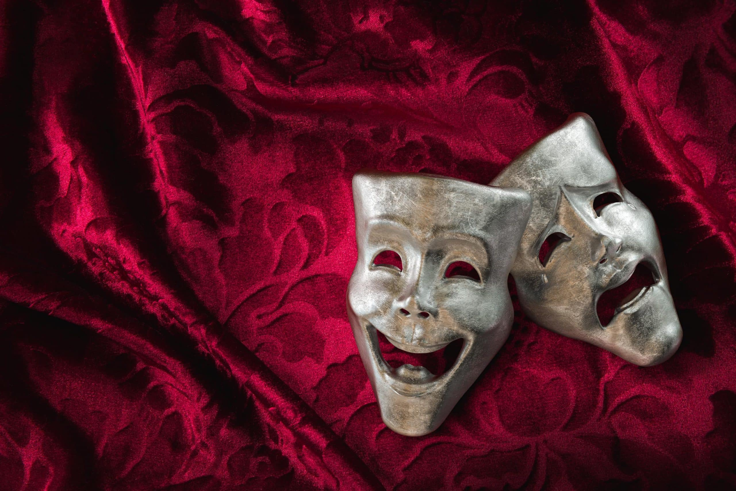 Lachende und traurige Maske