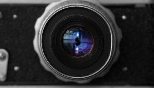 Linse einer Videokamera