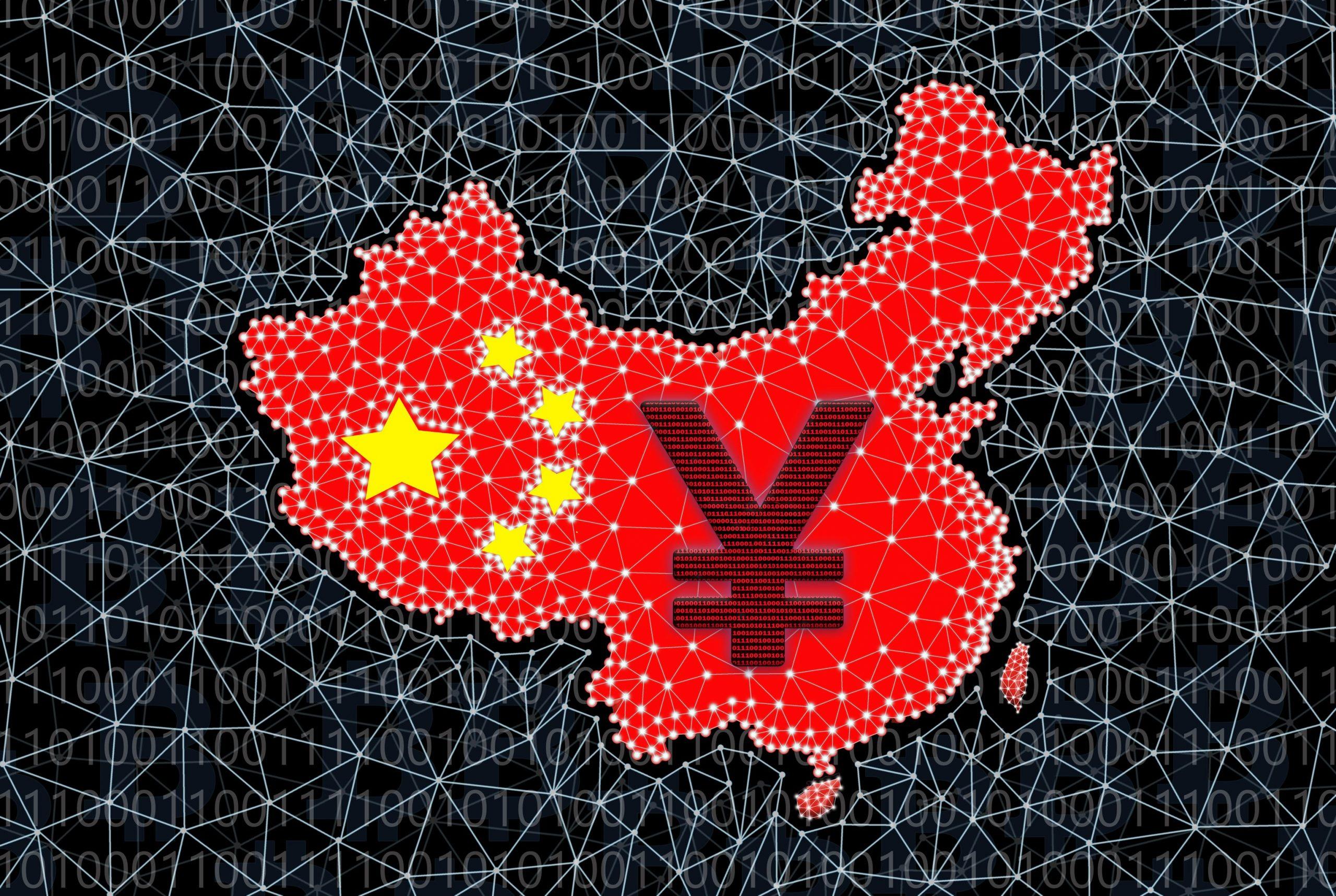 China - Digitaler Yuan auf chinesischer Karte