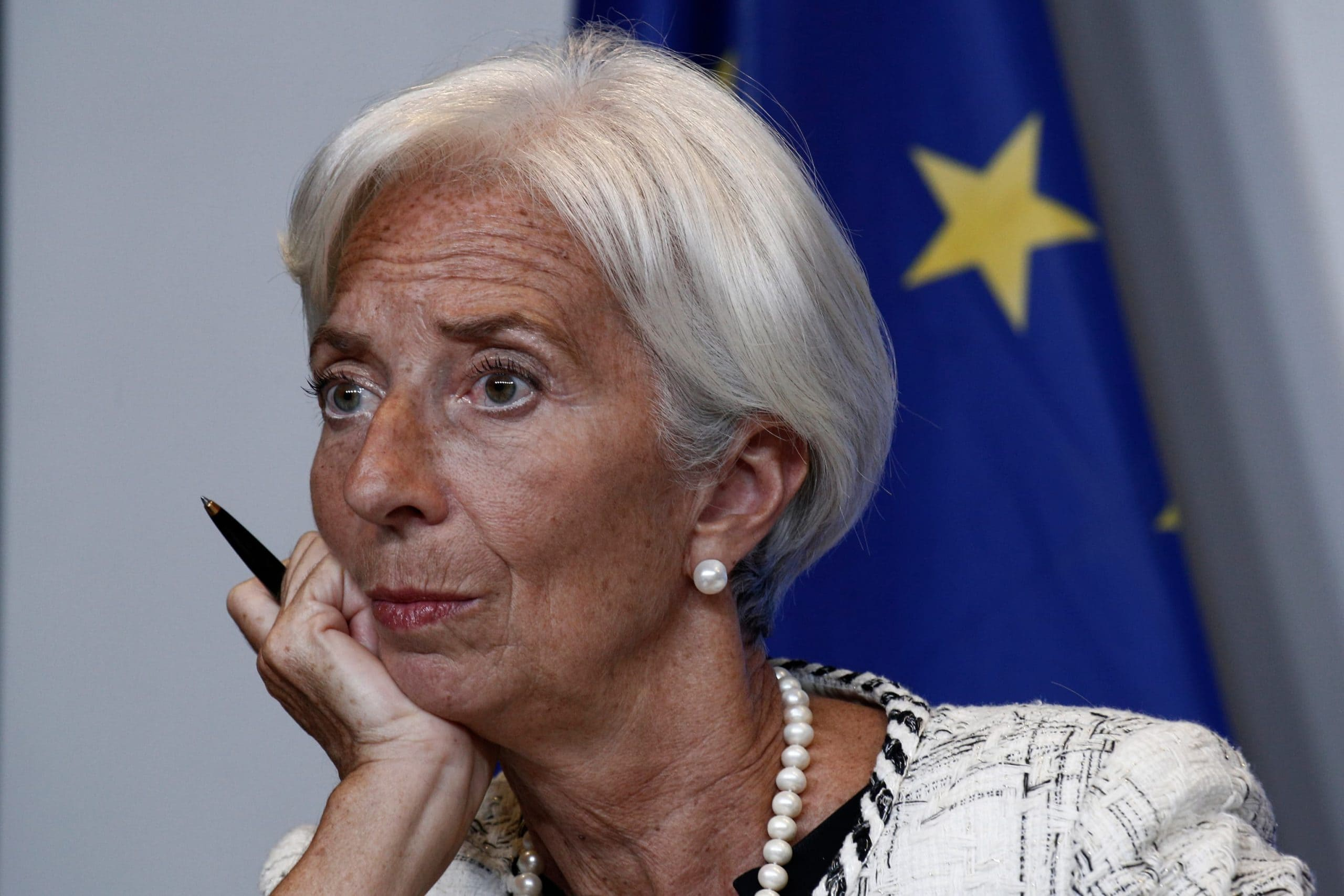 EZB-Chefin Christine Lagard in nachdenklicher Pose
