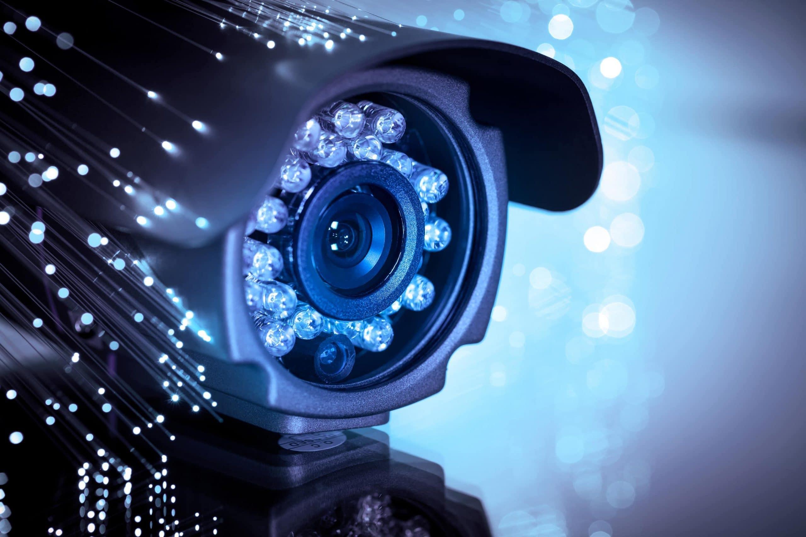 Überwachumskamera im Datenaustausch