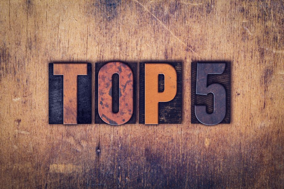 Top 5 Schild