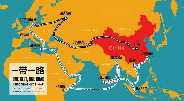 Chinesische Seidenstraße Karte