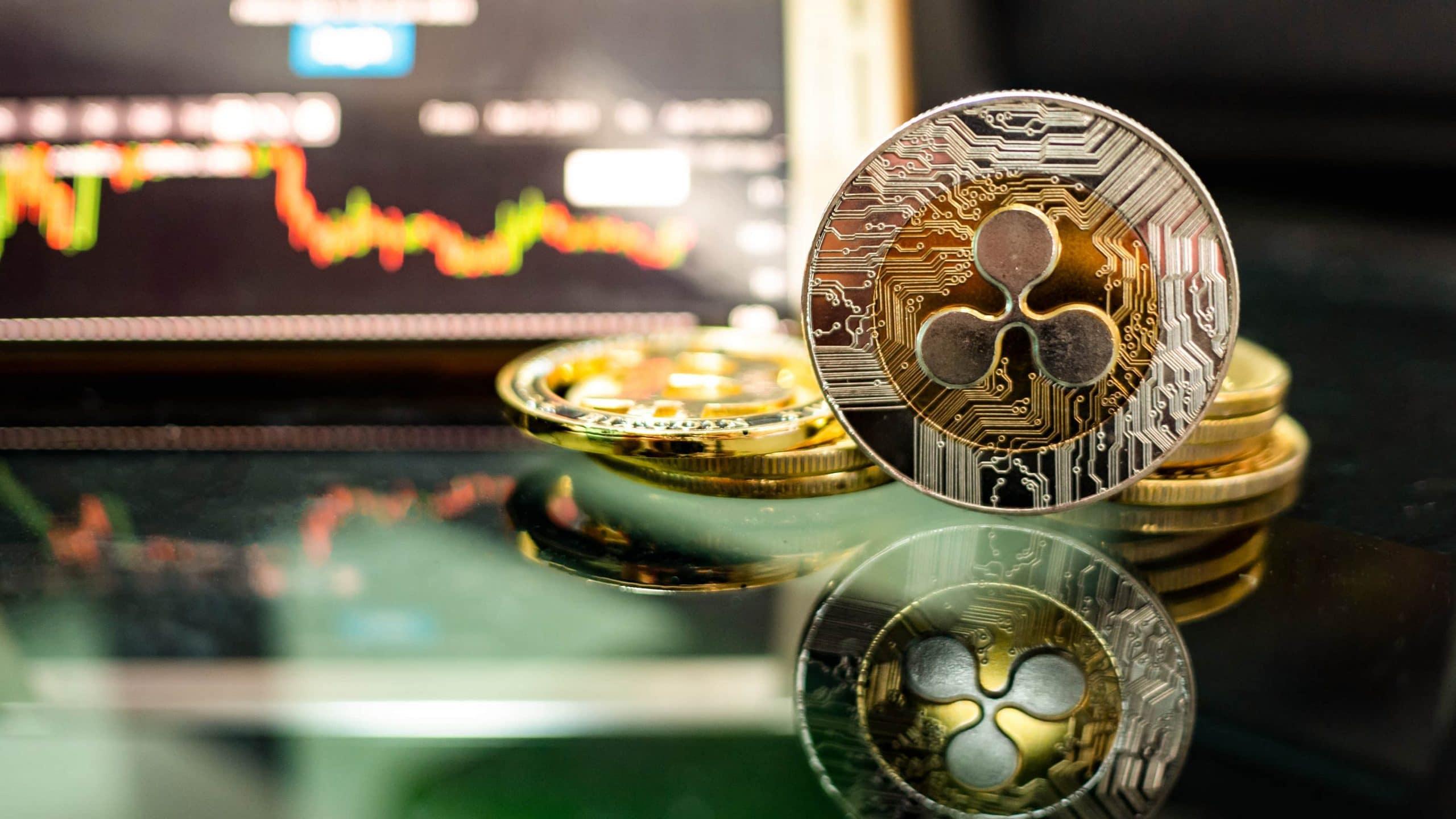 Ripple-Münze vor XRP-Chart