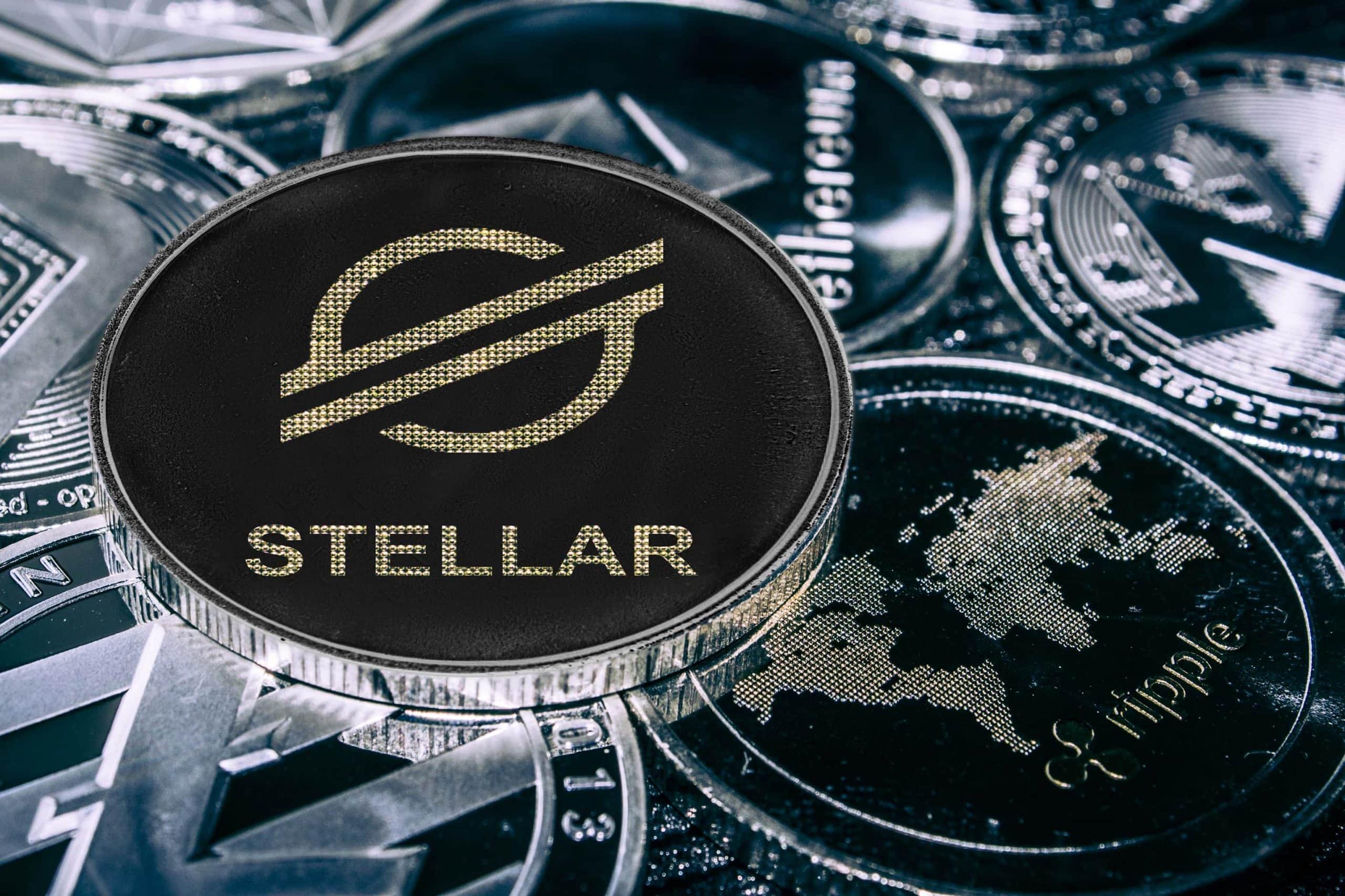 Altcoin-Münzen Stellar und XRP
