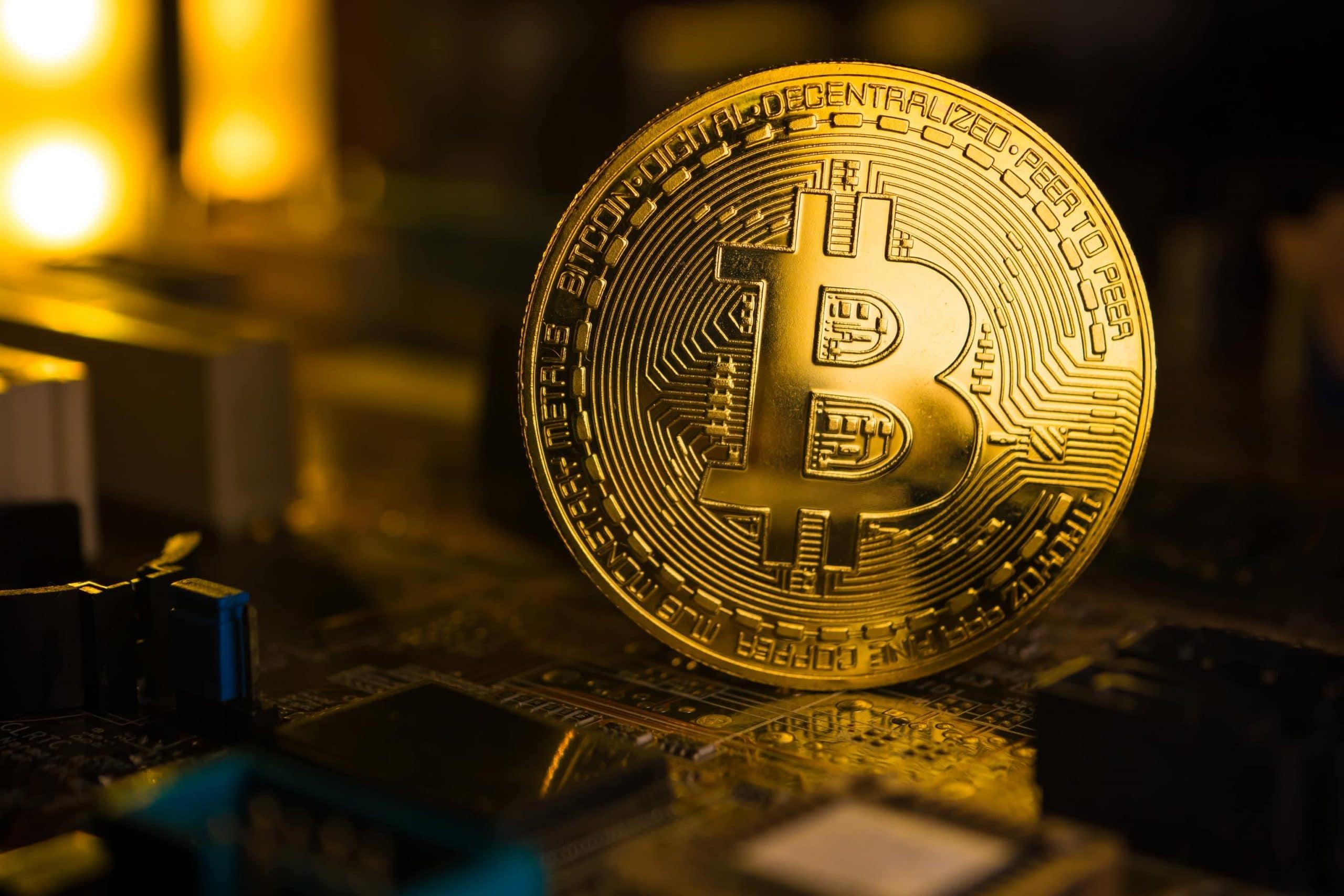 Bitcoin-Münze
