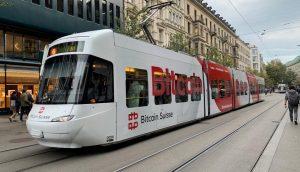 Bitcoin Suisse Tram in Zürich