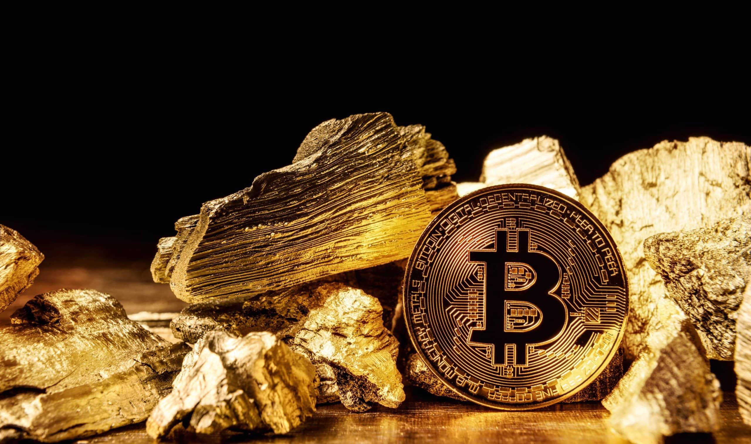 Bitcoin und Gold.
