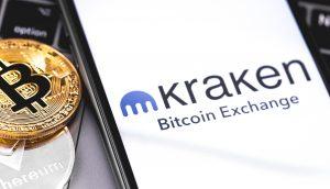 Kraken und Bitcoin-Münze